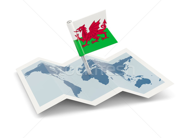 Map with flag of wales Stock photo © MikhailMishchenko