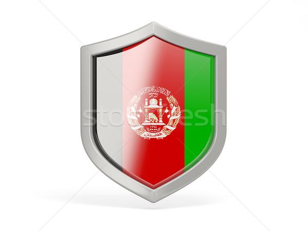 Kalkan ikon bayrak Afganistan yalıtılmış beyaz Stok fotoğraf © MikhailMishchenko
