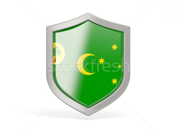 Shield icon with flag of cocos islands Stock photo © MikhailMishchenko