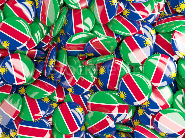 Background with round pins with flag of namibia Stock photo © MikhailMishchenko