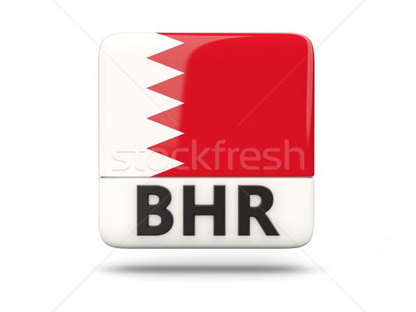 Praça ícone bandeira Bahrein iso código Foto stock © MikhailMishchenko