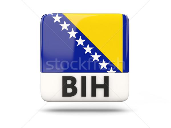 Foto stock: Cuadrados · icono · bandera · Bosnia · Herzegovina · iso · código