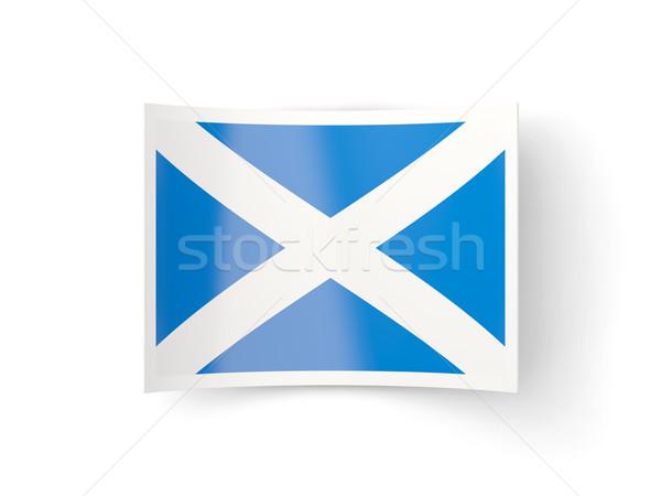 ícone bandeira escócia isolado branco país Foto stock © MikhailMishchenko