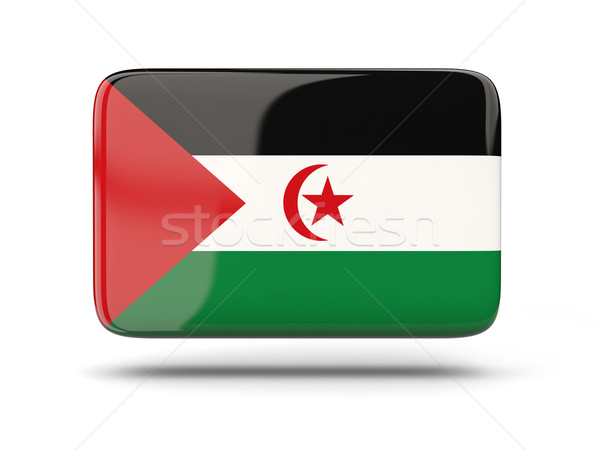 Vierkante icon vlag westerse sahara schaduw Stockfoto © MikhailMishchenko
