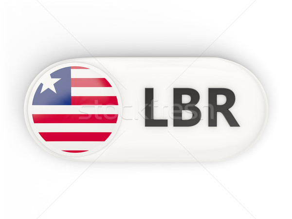 Round icon with flag of liberia Stock photo © MikhailMishchenko