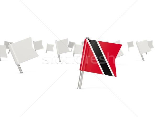 квадратный Pin флаг изолированный белый Сток-фото © MikhailMishchenko