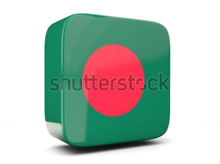 Tér ikon zászló Banglades 3d illusztráció izolált Stock fotó © MikhailMishchenko
