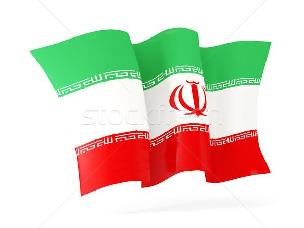 Waving flag of iran. 3D illustration Stock photo © MikhailMishchenko