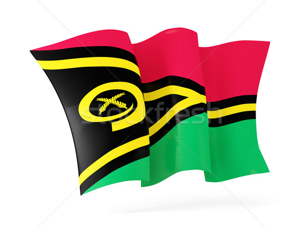 Bandeira Vanuatu ilustração 3d isolado branco Foto stock © MikhailMishchenko
