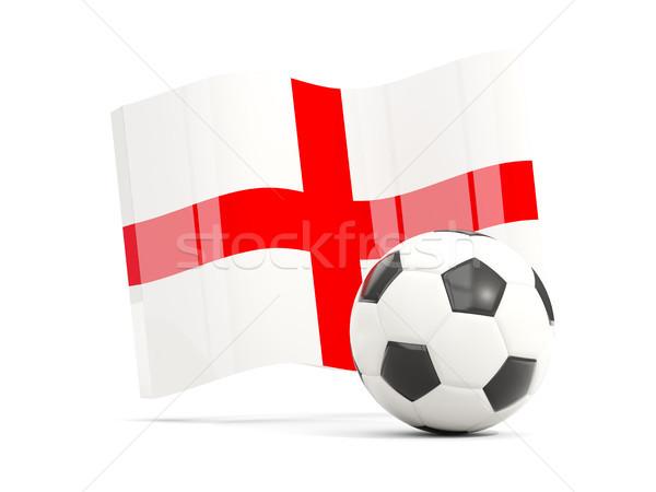 Football pavillon Angleterre isolé blanche Photo stock © MikhailMishchenko