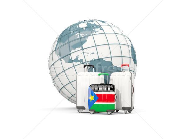 Csomagok zászló dél három szatyrok földgömb Stock fotó © MikhailMishchenko