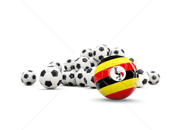 Football with flag of uganda isolated on white Stock photo © MikhailMishchenko