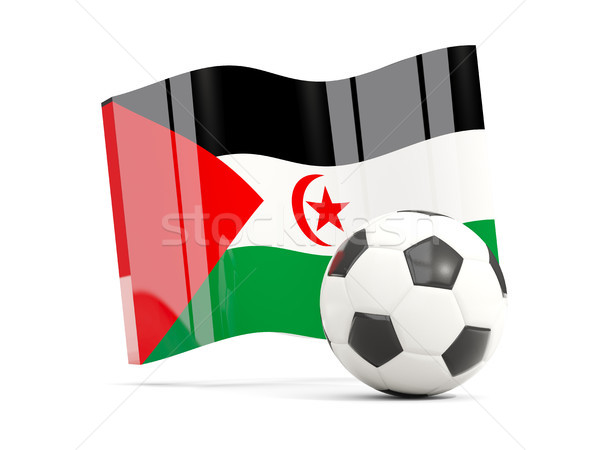 Voetbal vlag westerse sahara geïsoleerd Stockfoto © MikhailMishchenko