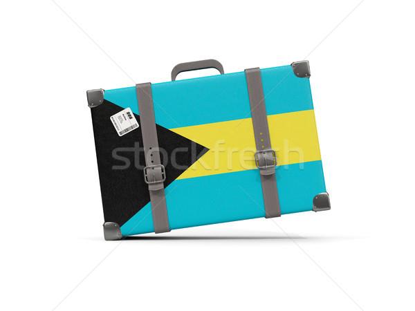 Bagagem bandeira Bahamas mala isolado branco Foto stock © MikhailMishchenko