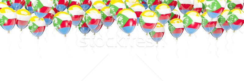 Balloons frame with flag of comoros Stock photo © MikhailMishchenko