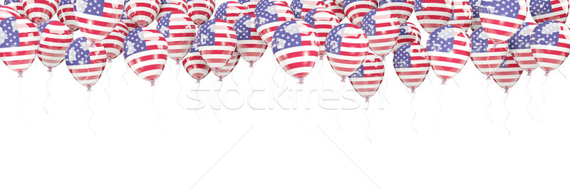 Balloons frame with flag of united states of america Stock photo © MikhailMishchenko