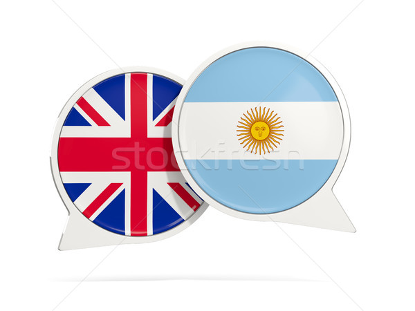 Chat bubbles of UK and Argentina isolated on white Stock photo © MikhailMishchenko