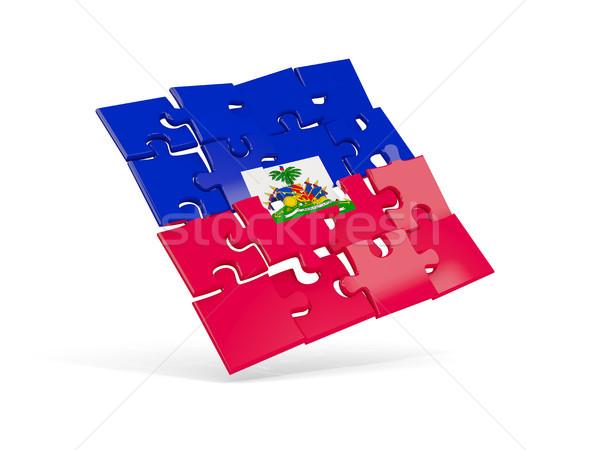 Puzzle bandiera Haiti isolato bianco illustrazione 3d Foto d'archivio © MikhailMishchenko