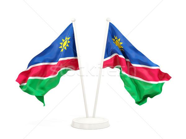 два флагами Намибия изолированный белый Сток-фото © MikhailMishchenko
