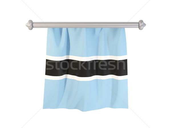 Banderą Botswana odizolowany biały 3d ilustracji etykiety Zdjęcia stock © MikhailMishchenko