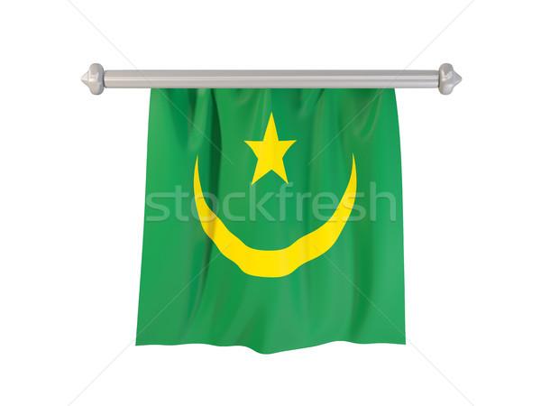 Pennant with flag of mauritania Stock photo © MikhailMishchenko