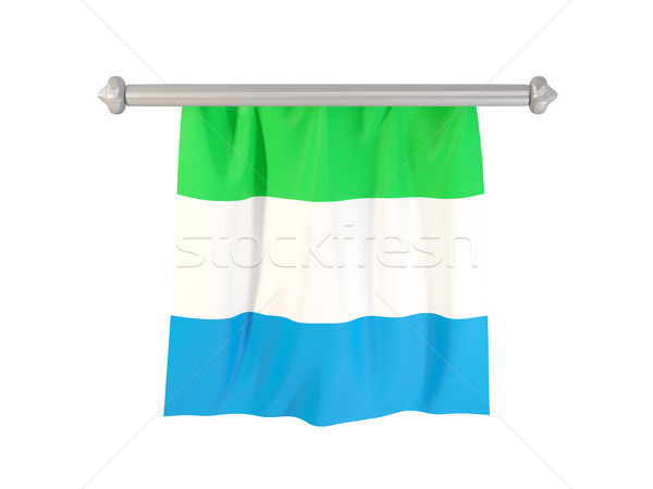 Pennant with flag of sierra leone Stock photo © MikhailMishchenko