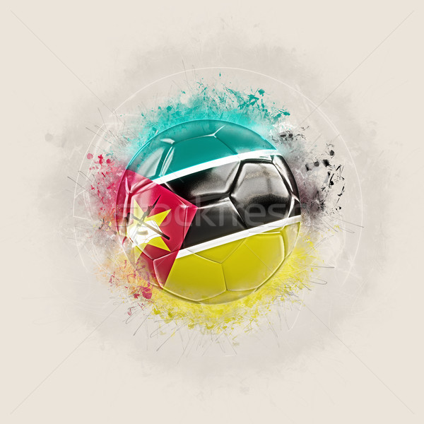 Grunge football with flag of mozambique Stock photo © MikhailMishchenko