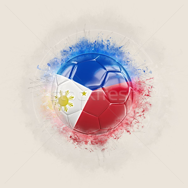 Grunge futbol bayrak Filipinler 3d illustration dünya Stok fotoğraf © MikhailMishchenko