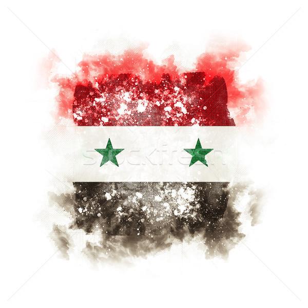 Vierkante grunge vlag Syrië 3d illustration retro Stockfoto © MikhailMishchenko