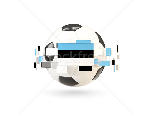 Soccer ball with line of flags. Flag of estonia Stock photo © MikhailMishchenko
