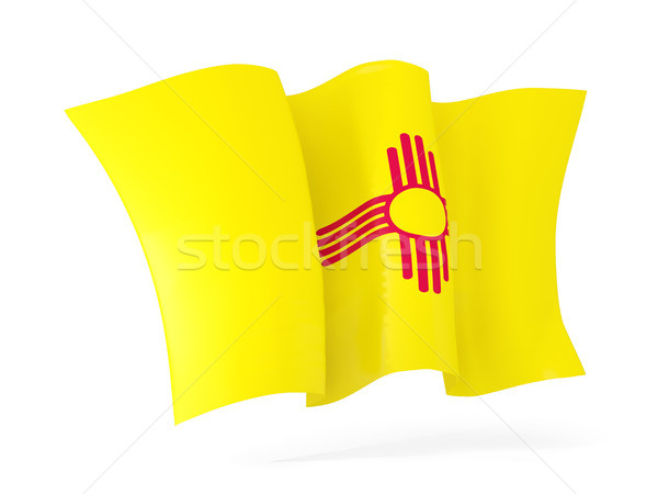new mexico state flag waving icon close up. United states local  Stock photo © MikhailMishchenko
