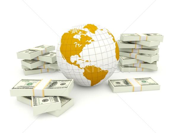 Toprak para yalıtılmış beyaz dünya harita Stok fotoğraf © MikhailMishchenko
