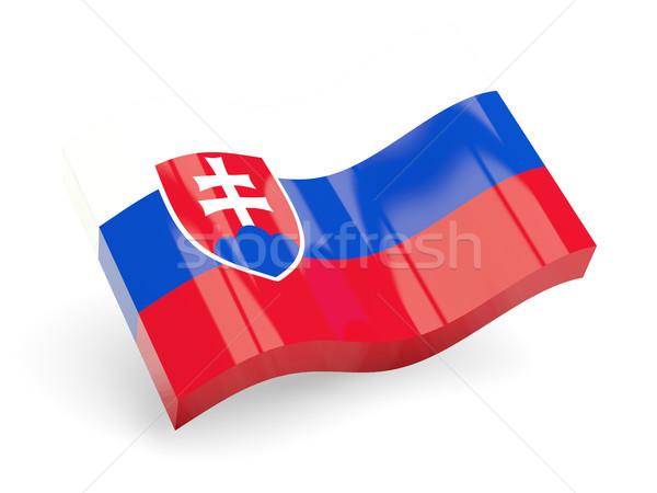 3D bandeira Eslováquia isolado branco viajar Foto stock © MikhailMishchenko