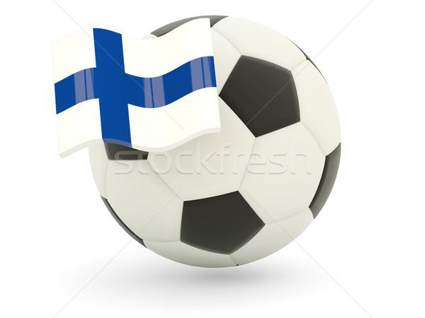 Calcio bandiera Finlandia isolato bianco sport Foto d'archivio © MikhailMishchenko