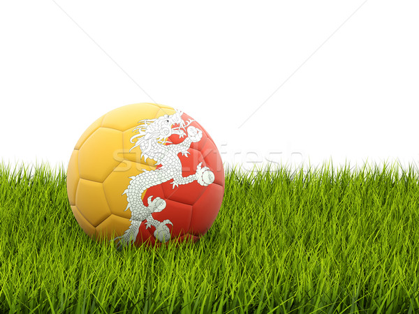 Football with flag of bhutan Stock photo © MikhailMishchenko