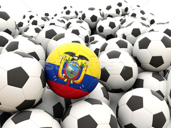 Voetbal vlag Ecuador regelmatig zomer Stockfoto © MikhailMishchenko