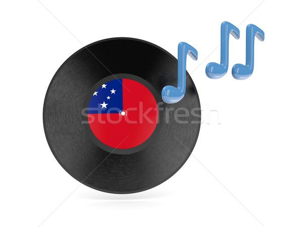 Vinyl disk with flag of samoa Stock photo © MikhailMishchenko
