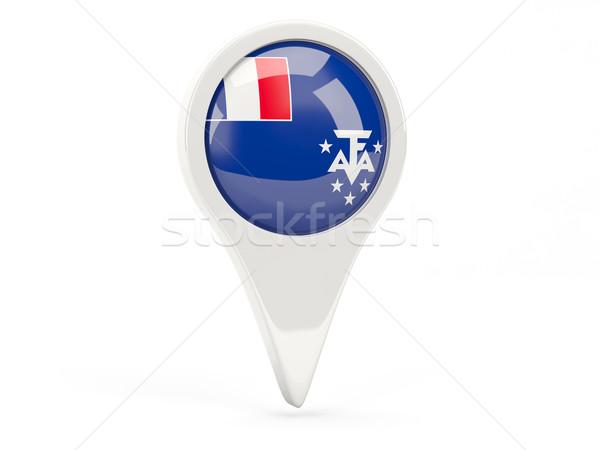 флаг икона французский южный изолированный белый Сток-фото © MikhailMishchenko