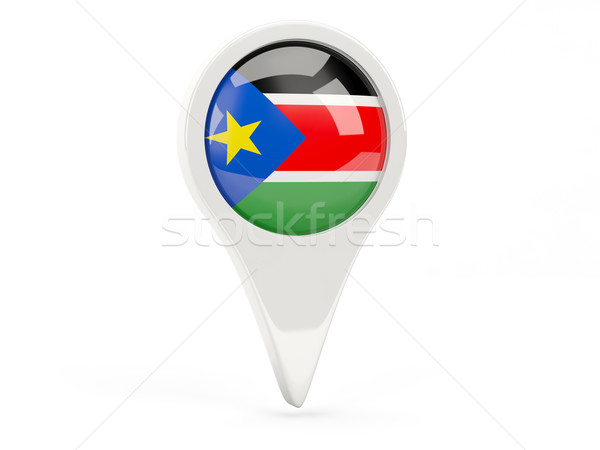 Round flag icon of south sudan Stock photo © MikhailMishchenko