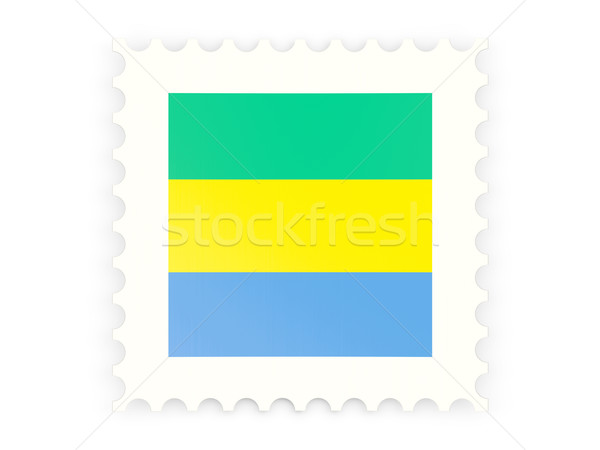 Postage stamp icon of gabon Stock photo © MikhailMishchenko
