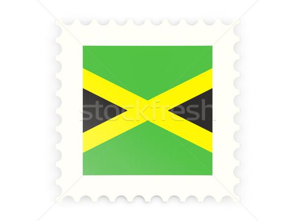 ícone Jamaica isolado branco assinar Foto stock © MikhailMishchenko