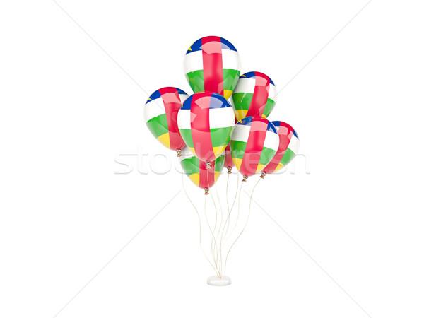 Pływające balony banderą centralny Afryki republika Zdjęcia stock © MikhailMishchenko