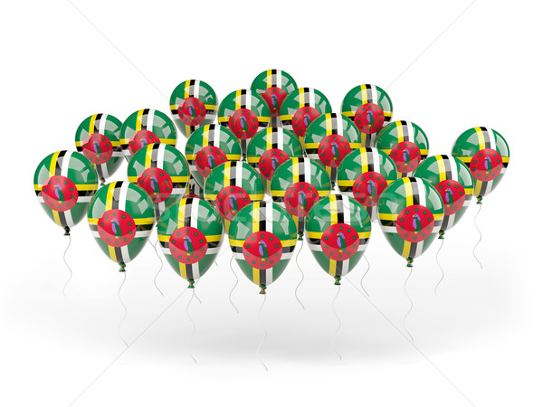 Ballonnen vlag Dominica geïsoleerd witte land Stockfoto © MikhailMishchenko