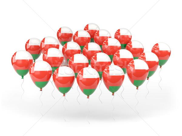 шаров флаг Оман изолированный белый путешествия Сток-фото © MikhailMishchenko