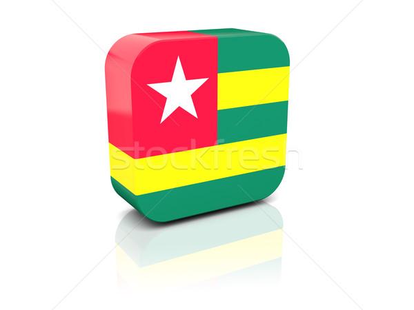 Piazza icona bandiera Togo riflessione bianco Foto d'archivio © MikhailMishchenko
