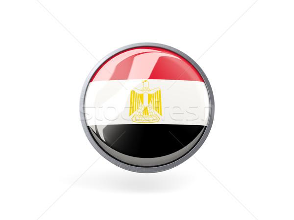 Ikon zászló Egyiptom fém keret utazás Stock fotó © MikhailMishchenko