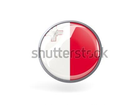 Icon vlag Malta metaal frame reizen Stockfoto © MikhailMishchenko