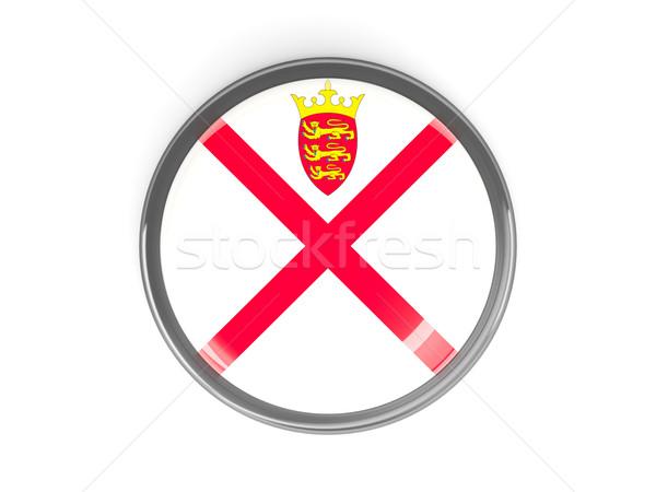 Round button with flag of jersey Stock photo © MikhailMishchenko