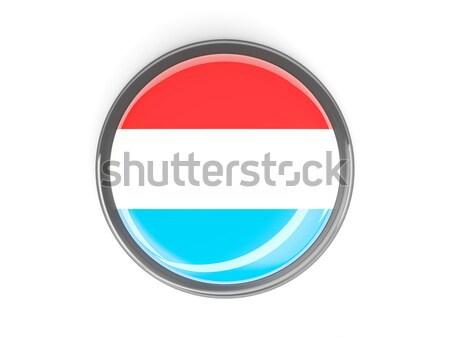 Gomb zászló Luxemburg fém keret utazás Stock fotó © MikhailMishchenko