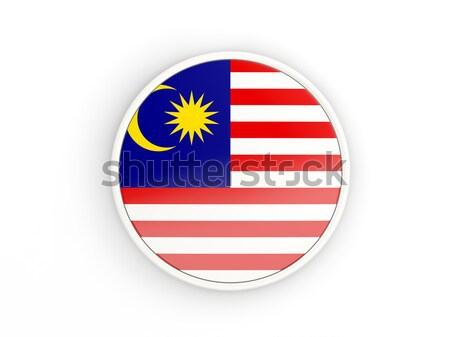 Knop vlag Maleisië metaal frame reizen Stockfoto © MikhailMishchenko